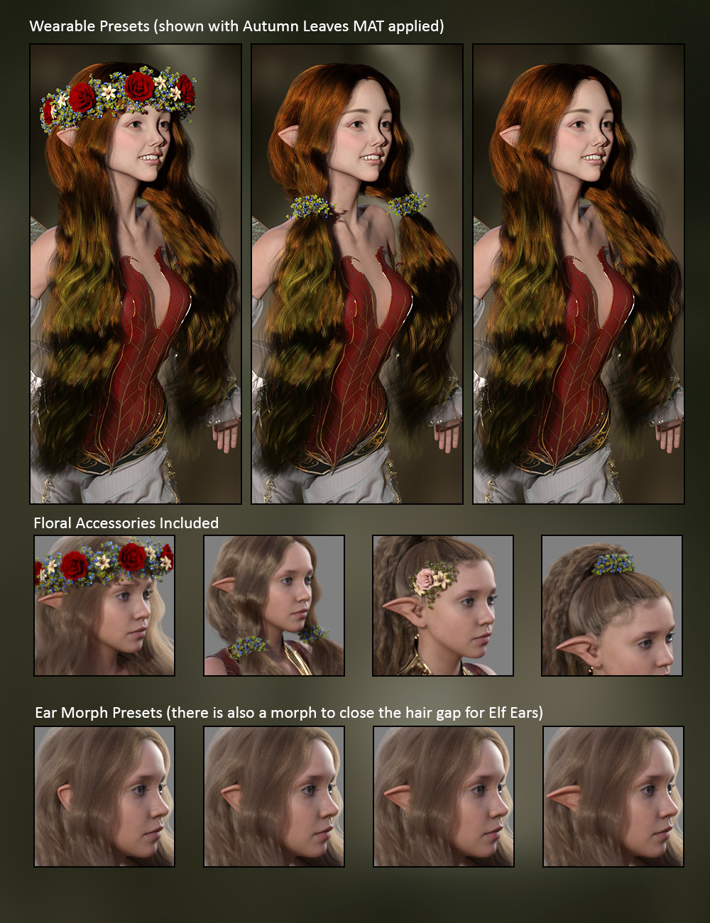 Elf Morph For Ears/Hair