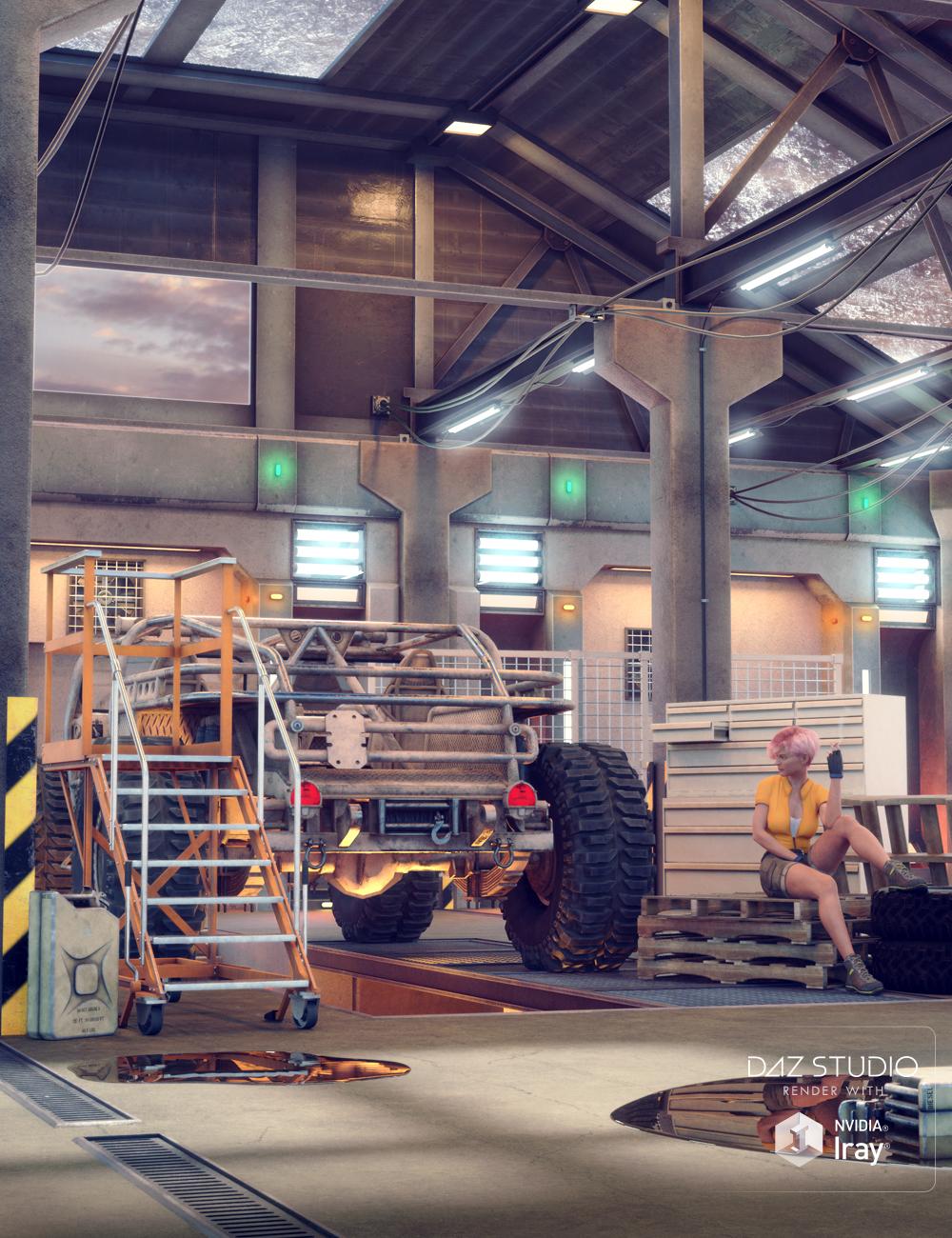 AER Mecha and Robot Modular Repair Bay by: E-Arkham, 3D Models by Daz 3D