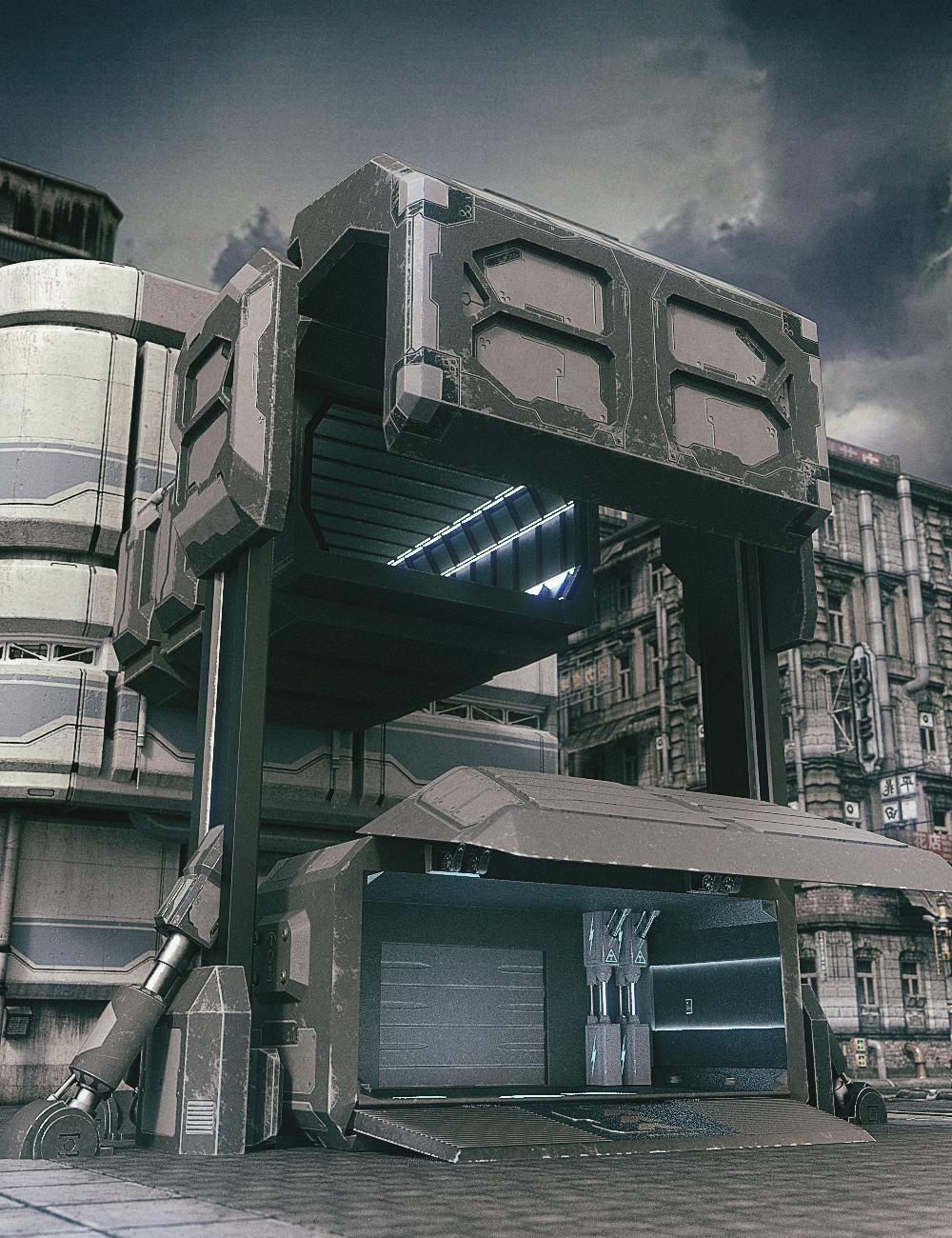 X-BIT Future Space Transmission Warehouse by: X-BIT, 3D Models by Daz 3D