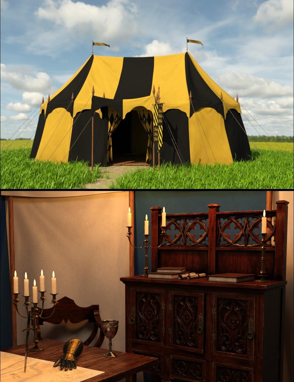 Commander's Tent Bundle by: Goriav, 3D Models by Daz 3D