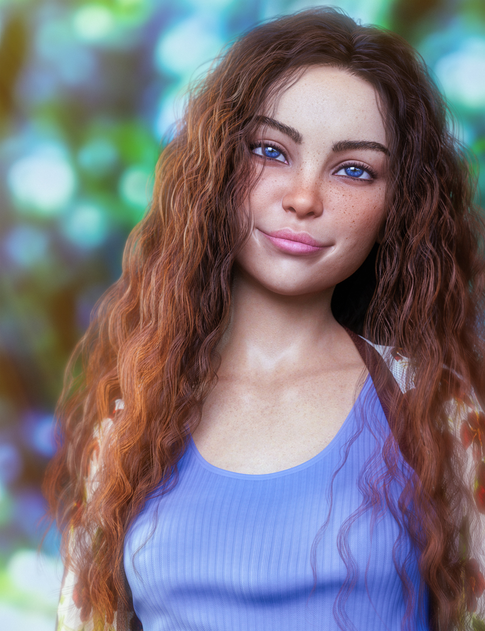 Bitsy For Genesis 8 Female by: Colm Jackson, 3D Models by Daz 3D