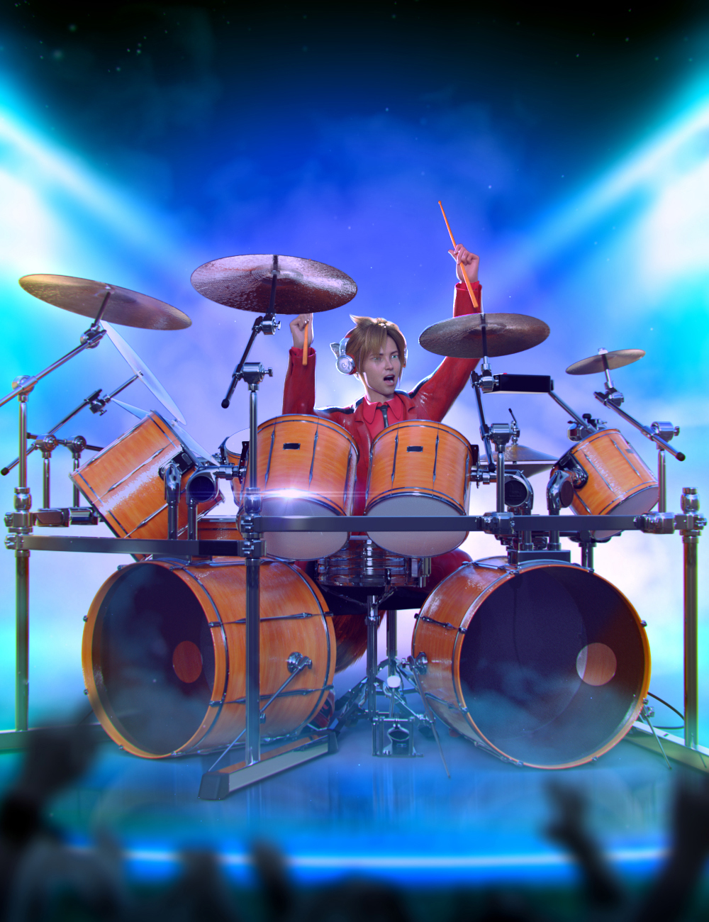 Drum Animations for Genesis 8.1 Male and Kota 8.1 by: ThreeDigital, 3D Models by Daz 3D