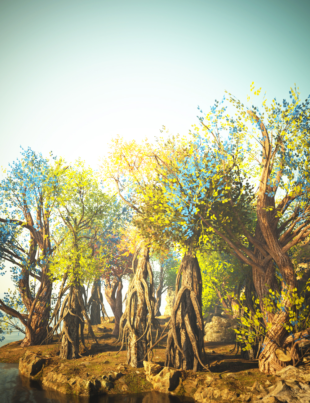 Fantastic and Enchanted Trees by: Gendragon3DJeffersonAF, 3D Models by Daz 3D