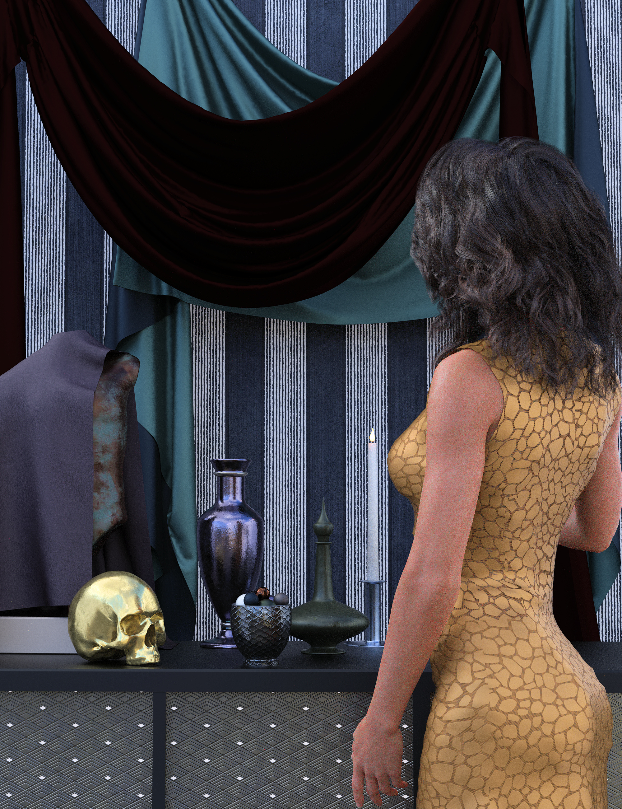 Dark Worlds Fabrics and Metals Bundle by: Khory, 3D Models by Daz 3D