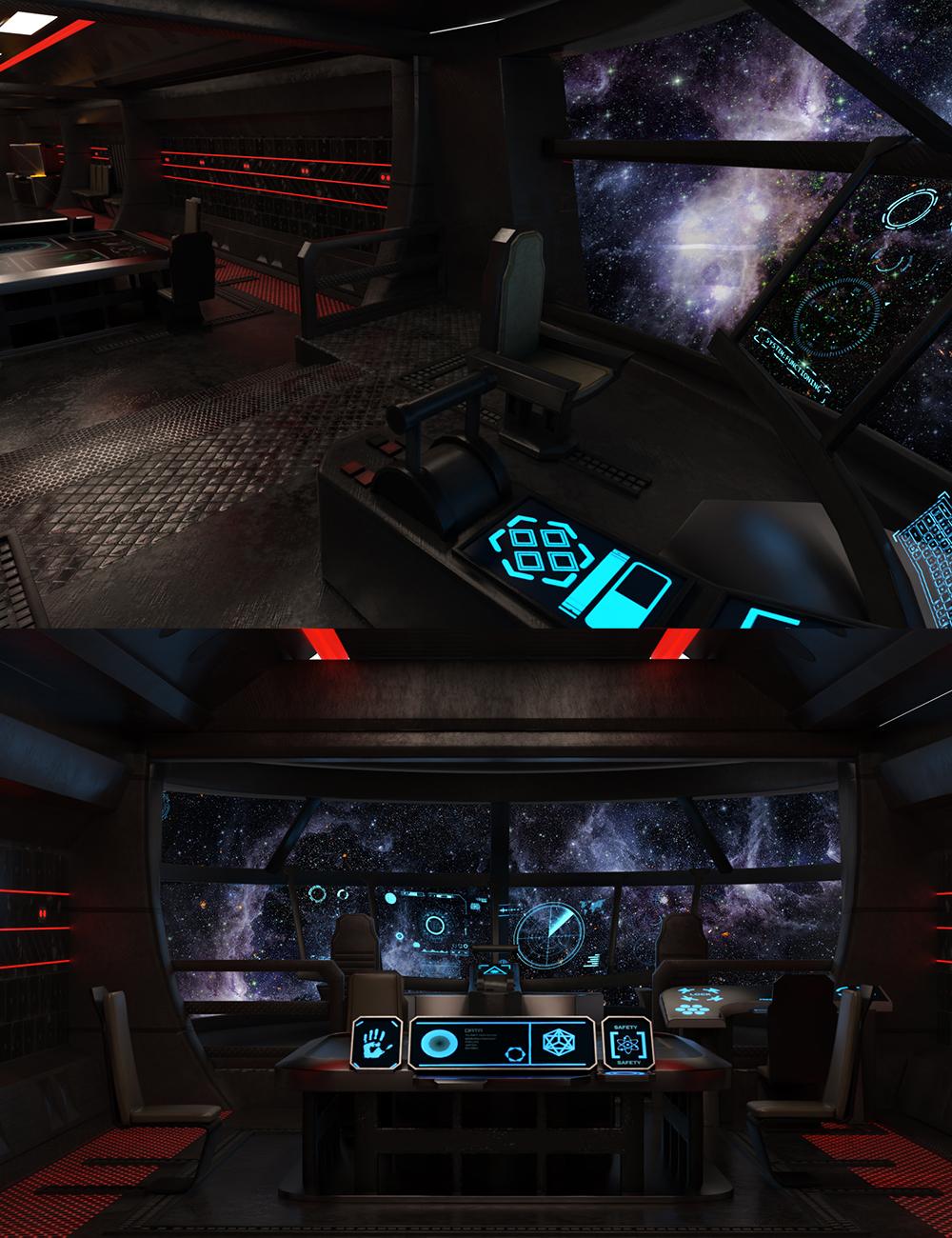 Captain's Space Cockpit by: clacydarch3d, 3D Models by Daz 3D