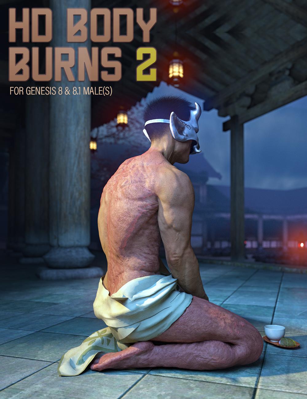 HD BODY BURNS 2 for Genesis 8 & 8.1 Males by: FenixPhoenixEsid, 3D Models by Daz 3D