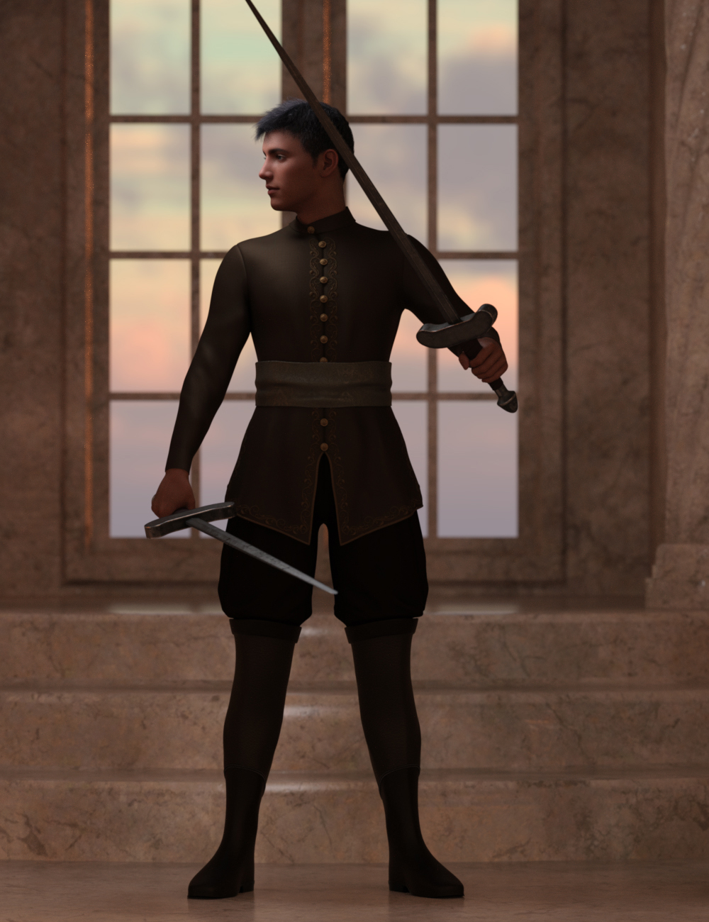 Charming Poses for Genesis 8.1 Male by: Ensary, 3D Models by Daz 3D
