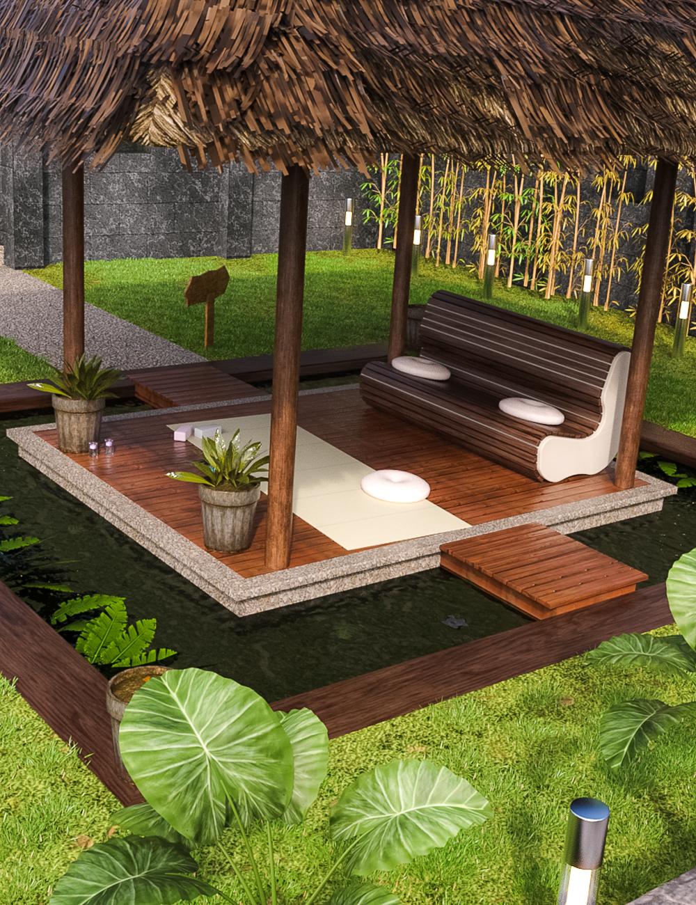 Meditation Pavilion by: clacydarch3d, 3D Models by Daz 3D