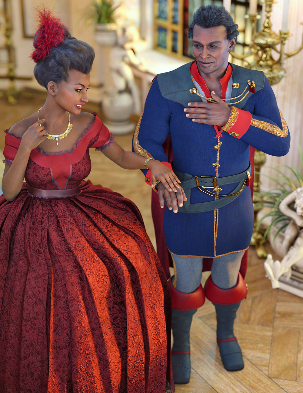 dForce Charming Ever After Outfit for Genesis 8.1 Males by: Barbara BrundonUmblefuglyAnna Benjamin, 3D Models by Daz 3D