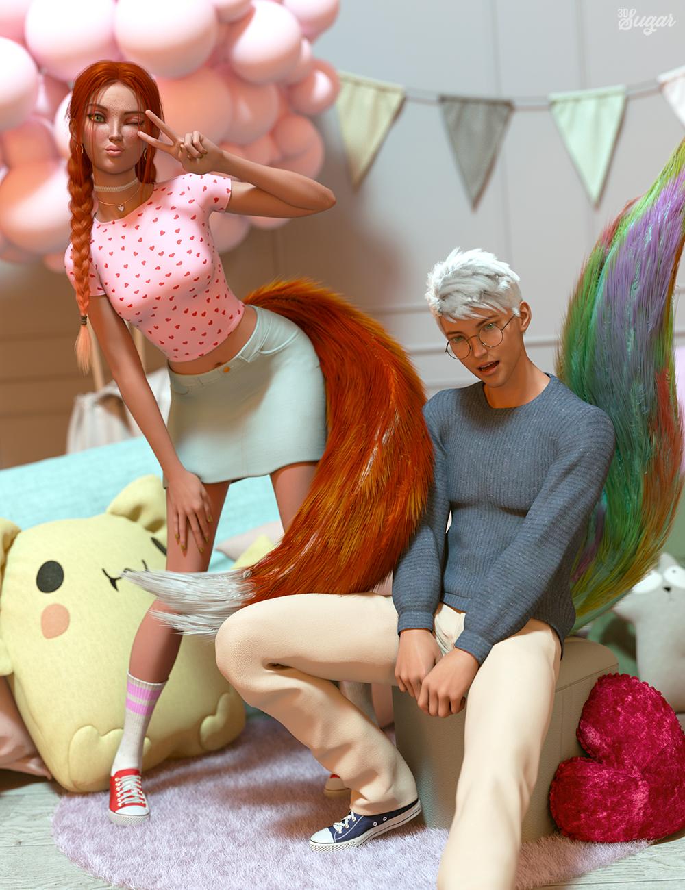 Kawaii Mood Poses and Expressions for Kiko 8.1 and Kota 8.1 by: 3D Sugar, 3D Models by Daz 3D