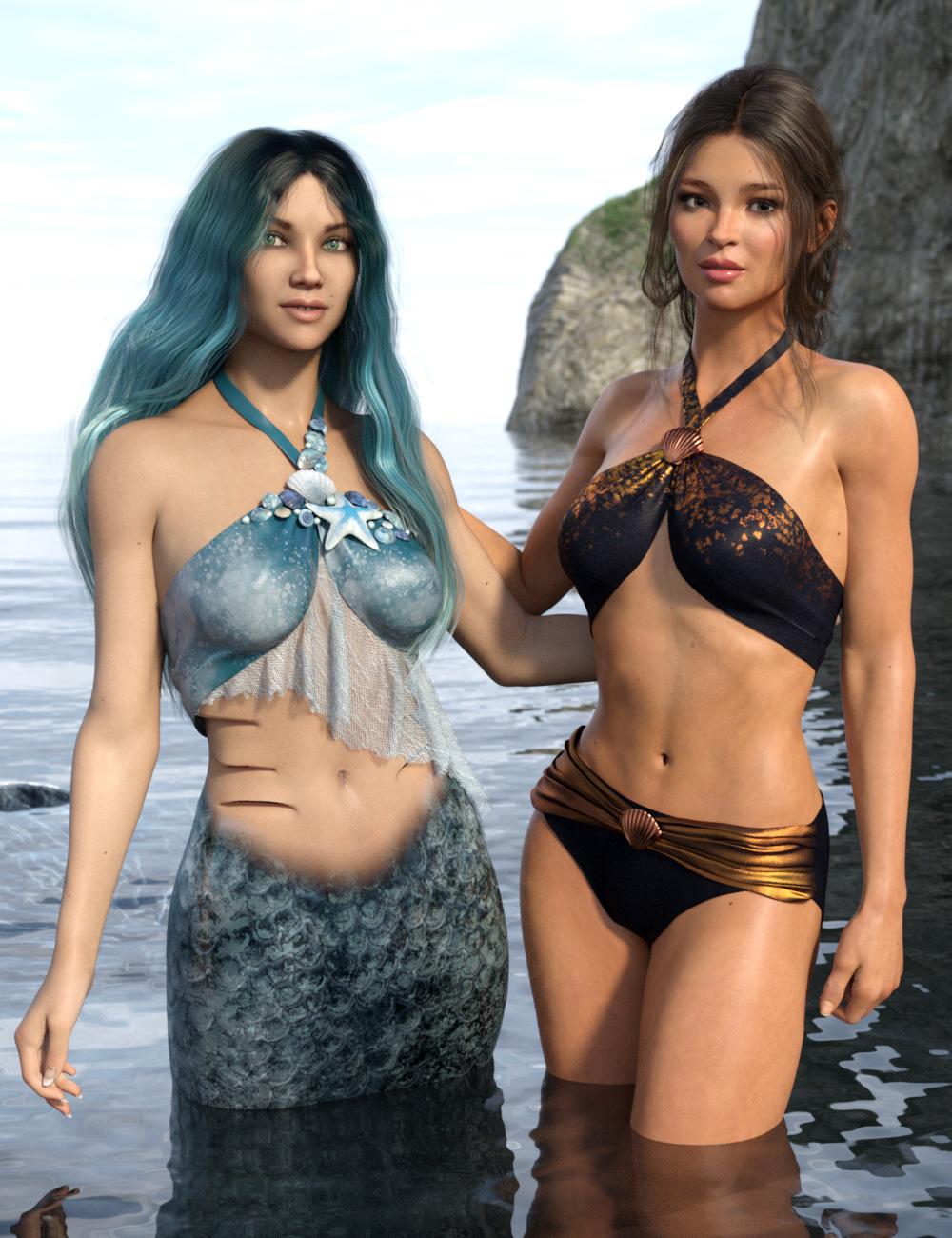 Mermaid Bikini for Genesis 8 and 8.1 Females by: esha, 3D Models by Daz 3D