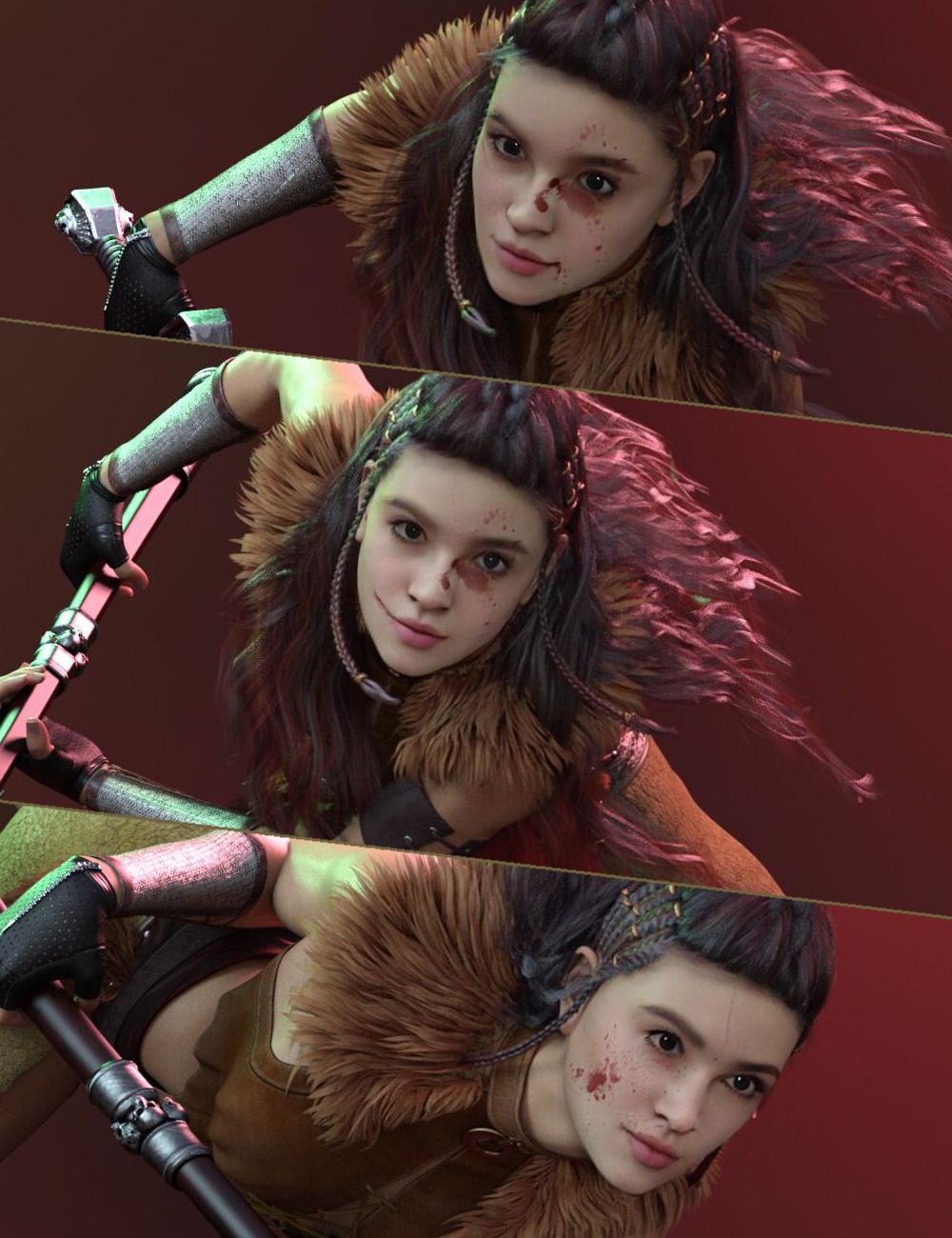 GF TOTAL Fantasy Warrior Poses for Genesis 8 Females by: Nirvana, 3D Models by Daz 3D