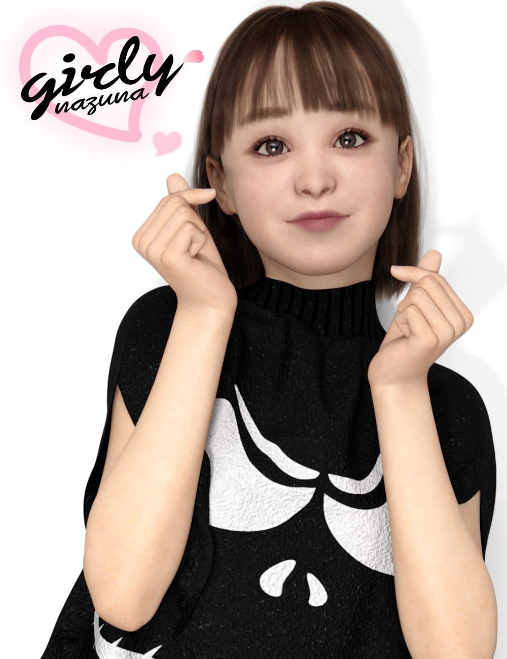 Girly Nazuna for Genesis 8 Female by: 7-ko, 3D Models by Daz 3D