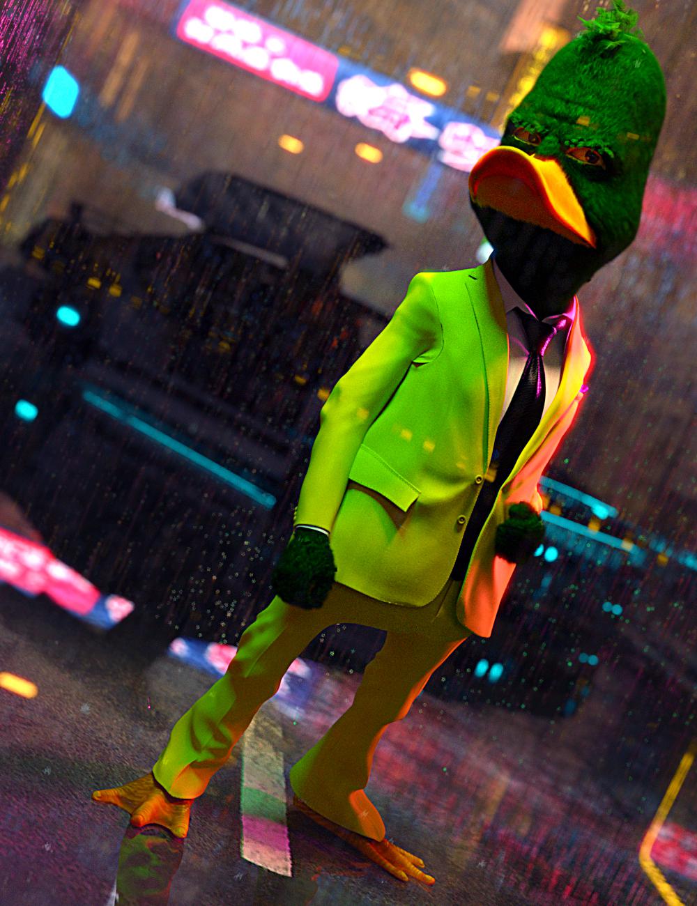 Modern Duckie for Genesis 8 Male by: JoeQuick, 3D Models by Daz 3D