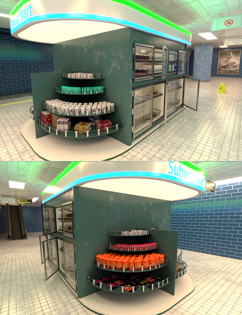 Subway Mart by: Tesla3dCorp, 3D Models by Daz 3D