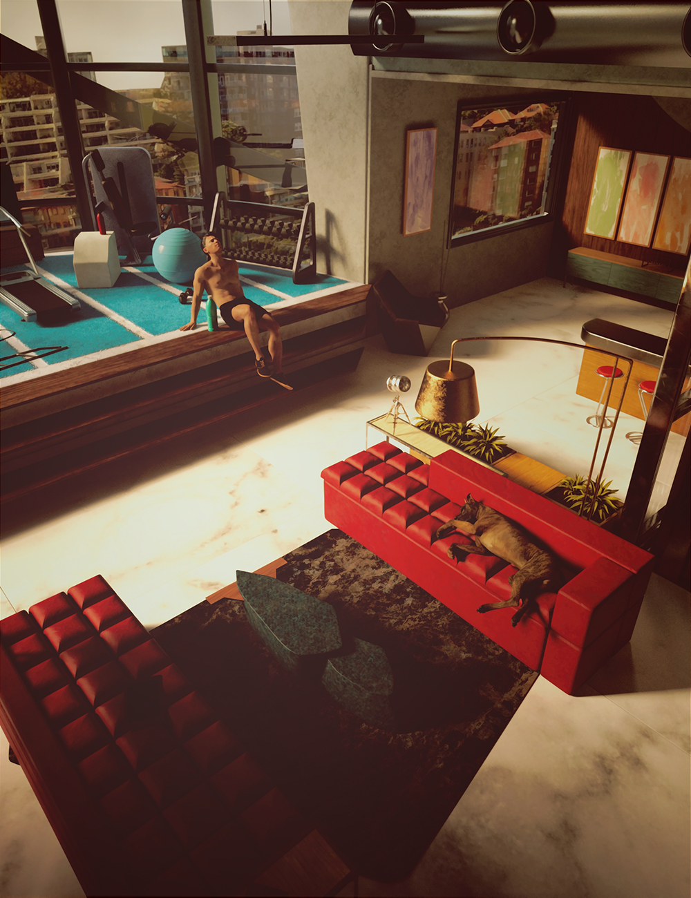 Highrise Apartment by: Feng, 3D Models by Daz 3D