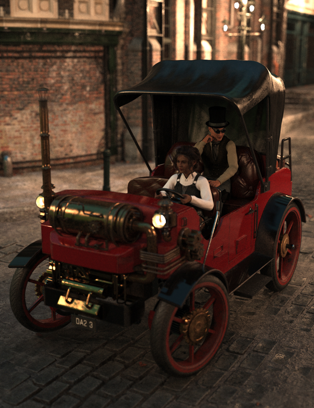 Steampunk Carriage by: Charlie, 3D Models by Daz 3D