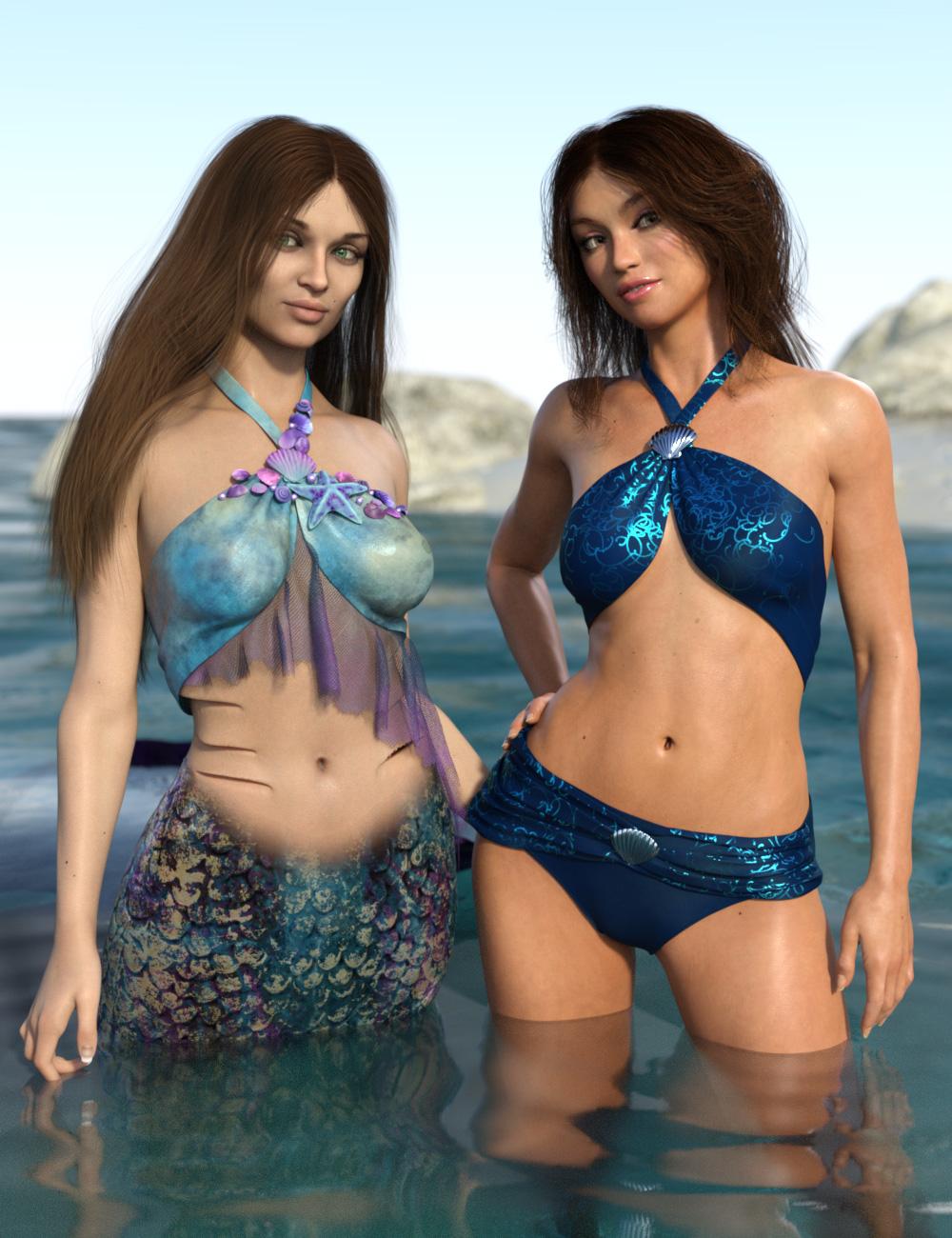 Mermaid Bikini Texture Expansion by: esha, 3D Models by Daz 3D