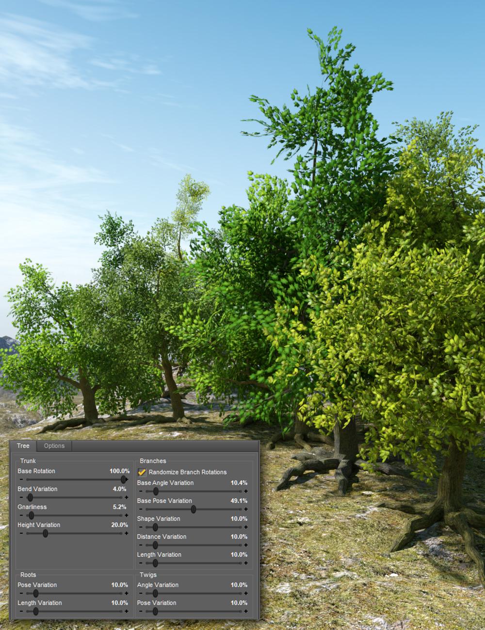 Randomizable Trees by: RiverSoft Artesha, 3D Models by Daz 3D