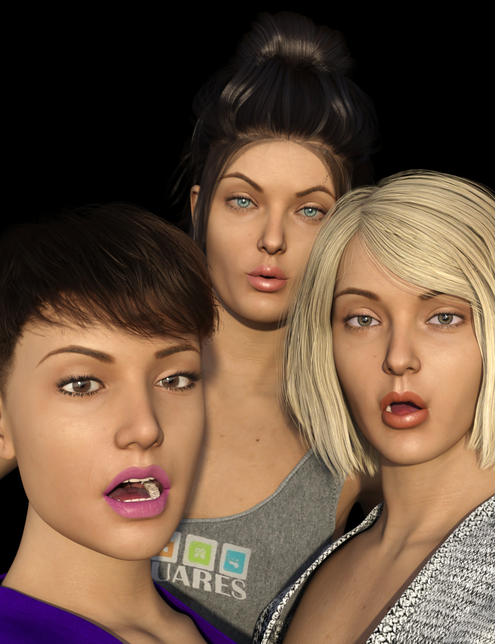 Emphasized Visemes for Genesis 8.1 Female by: dobit, 3D Models by Daz 3D