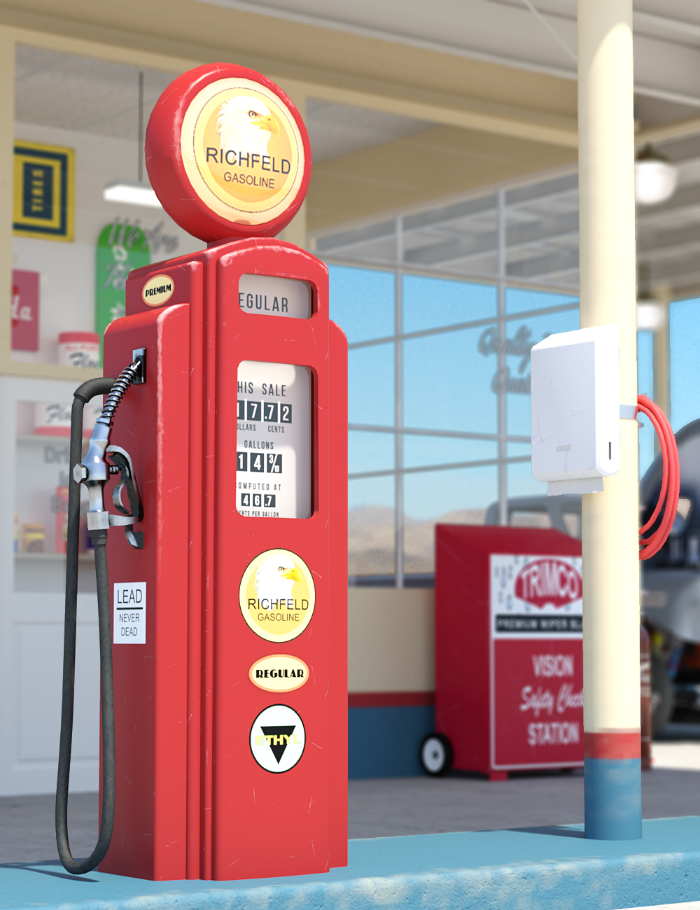 Old Gas Station by: DarkEdgeDesign, 3D Models by Daz 3D