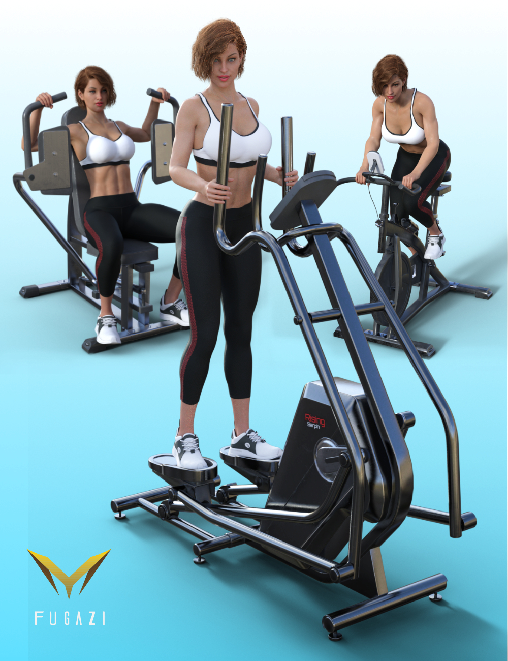FG Fitness Equipment and Poses for Genesis 8 and 8.1 Females by: Fugazi1968Ironman, 3D Models by Daz 3D