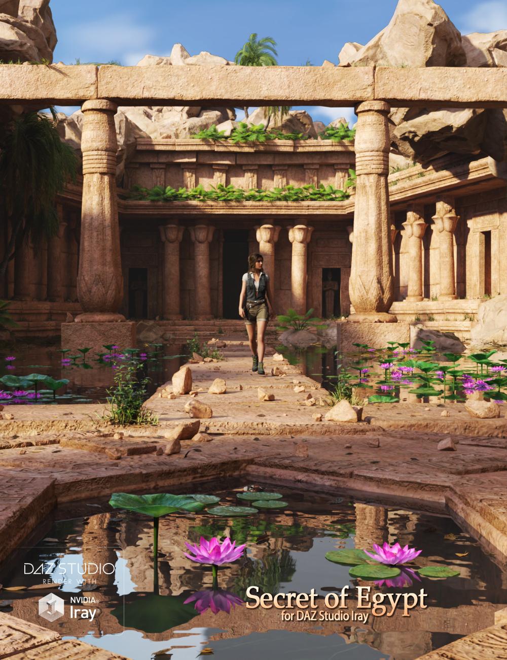 Secret of Egypt by: Andrey Pestryakov, 3D Models by Daz 3D