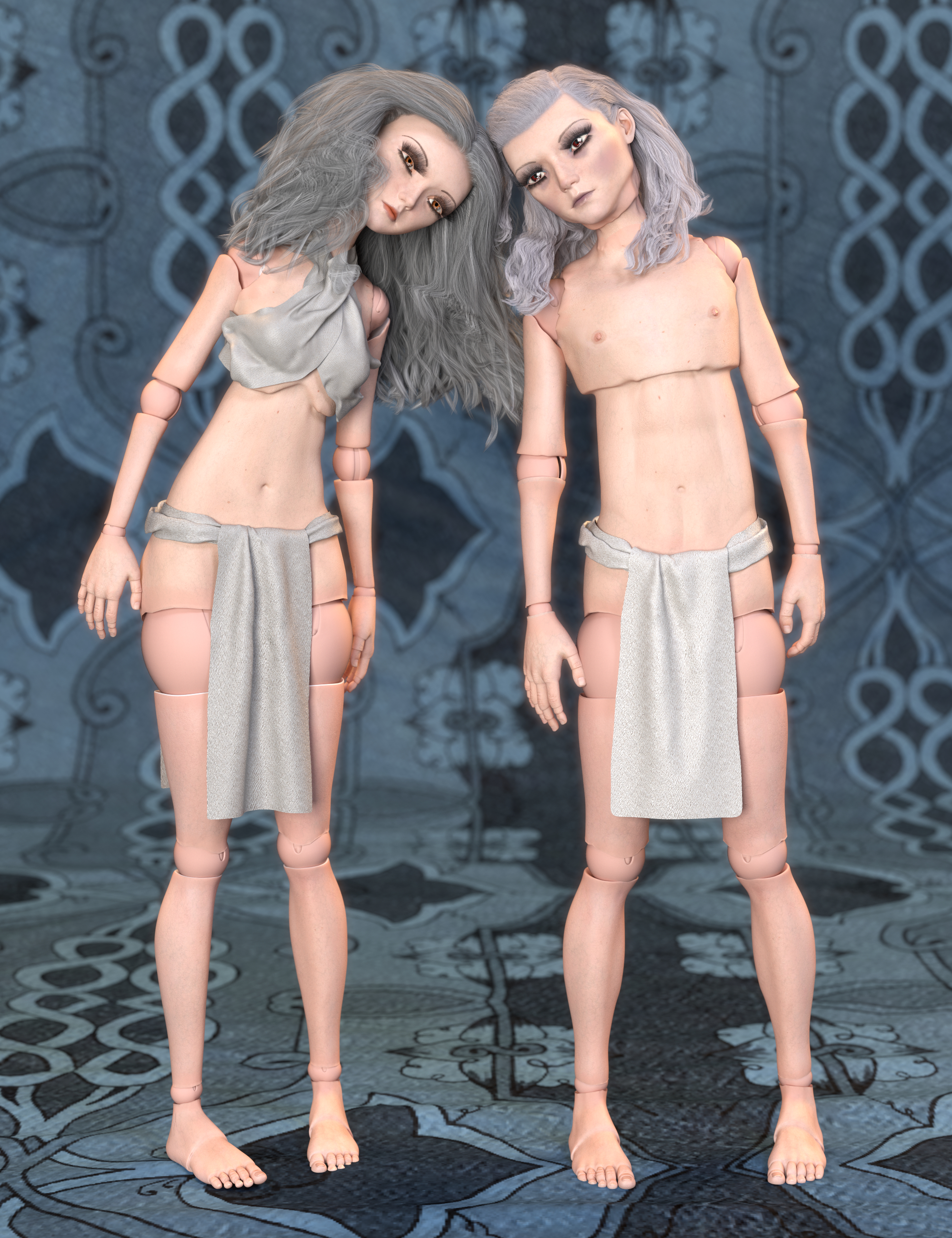 SF Ball Jointed Dolls for Genesis 8 and 8.1 by: SickleyieldFuseling, 3D Models by Daz 3D
