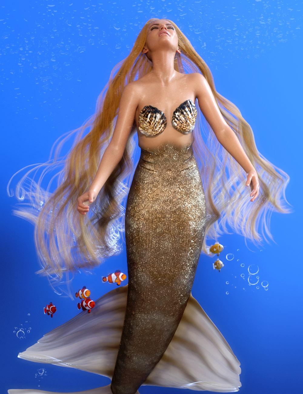 PhilW's Mermaid Hair for Genesis 8 and 8.1 Females by: PhilW, 3D Models by Daz 3D