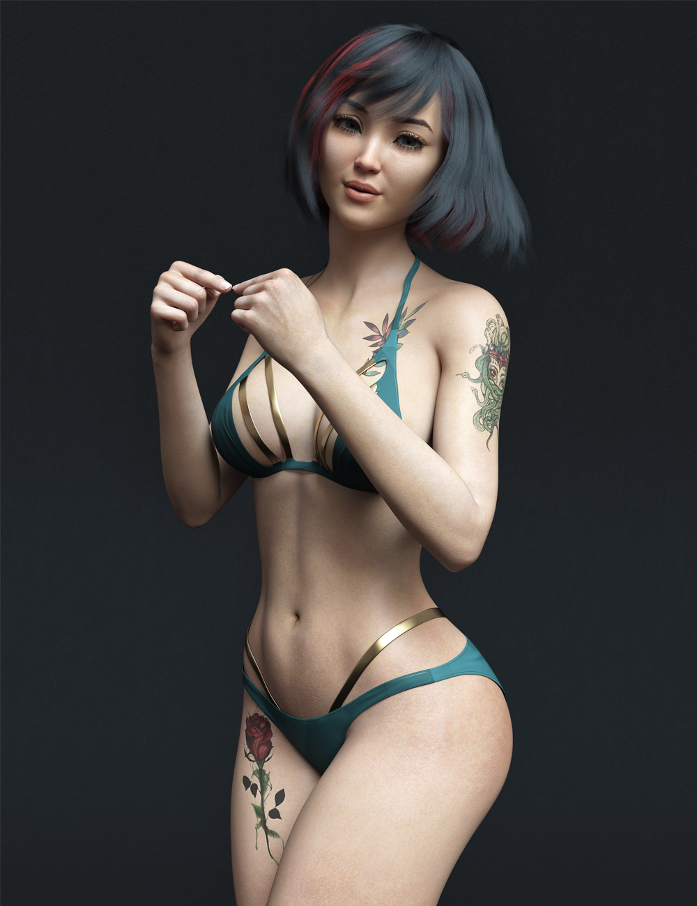 MR Hinata for Genesis 8.1 Female by: Marcius, 3D Models by Daz 3D