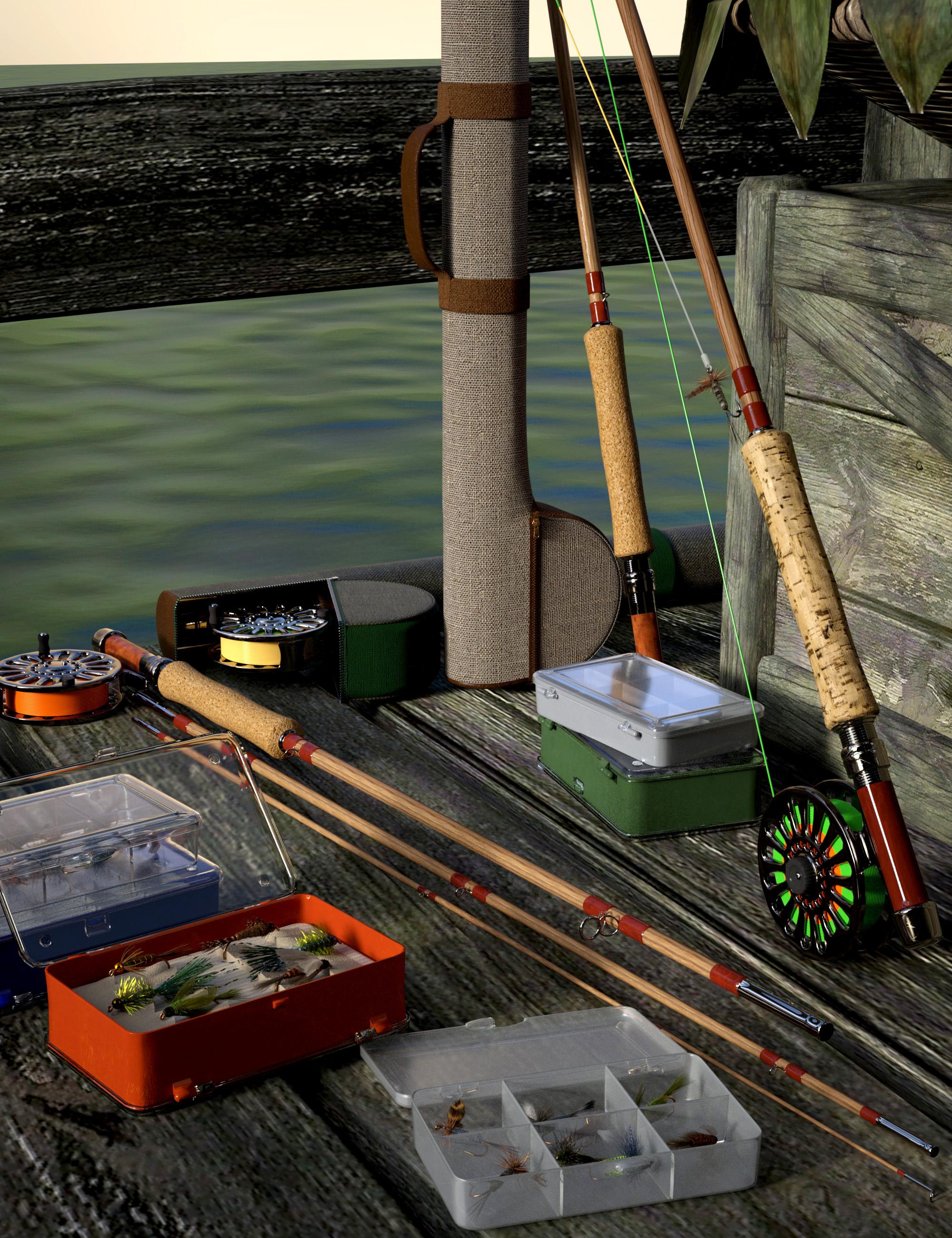 Fly Fishing Gear by: The Alchemist, 3D Models by Daz 3D