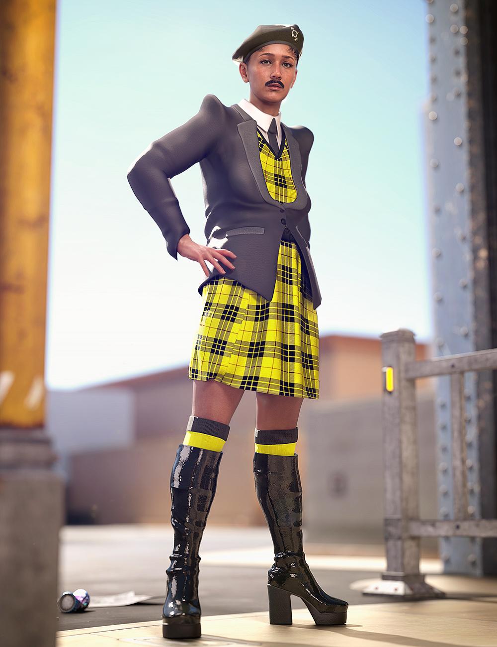 Catty 8.1 Gender Fluid Pride Fashion Bundle by: , 3D Models by Daz 3D