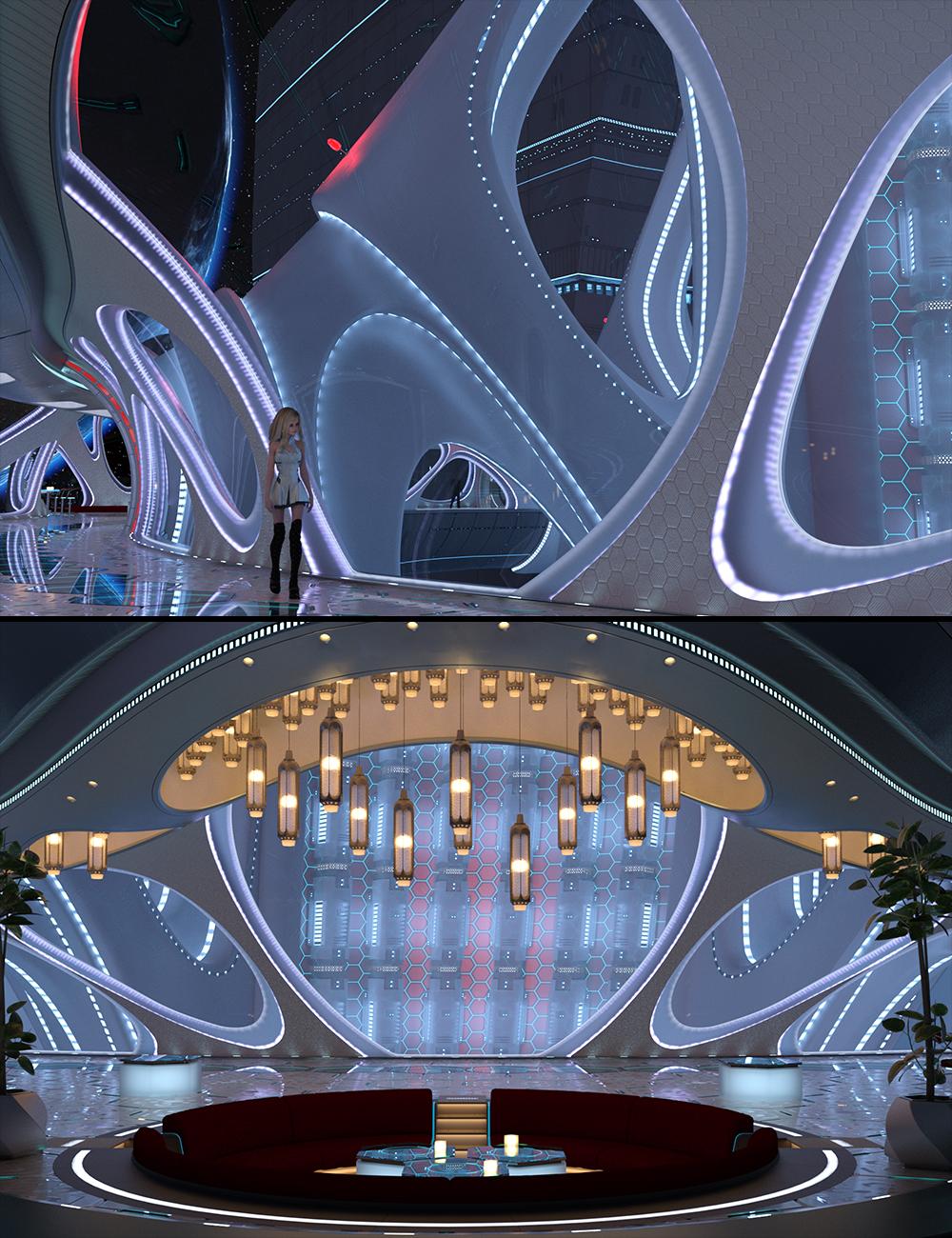 Starliner - Hallway & Lounge by: MarieL, 3D Models by Daz 3D