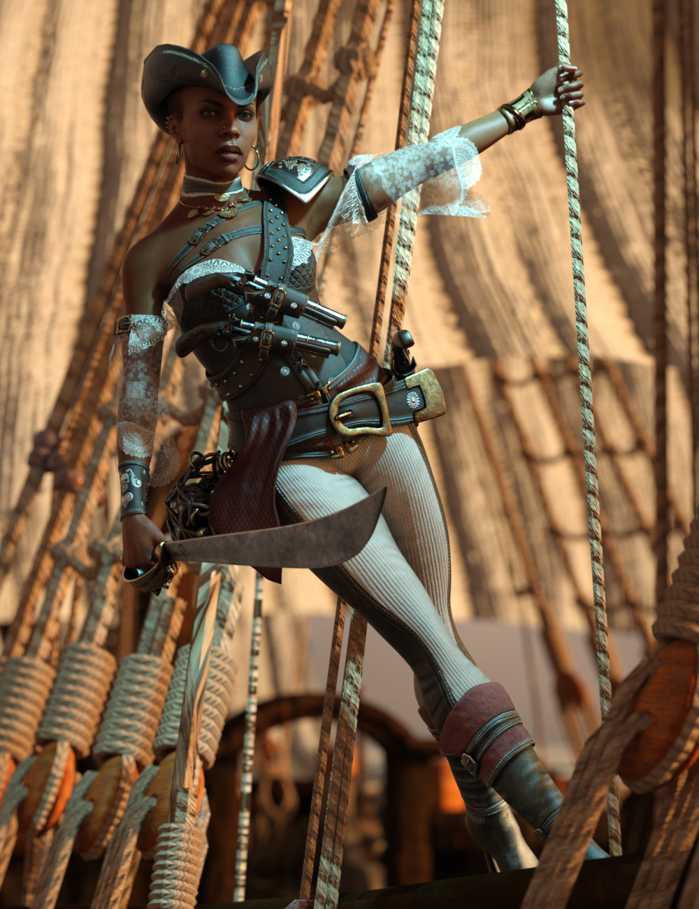 Black Pearl Poses for Jinx Jones 8.1 by: Ensary, 3D Models by Daz 3D