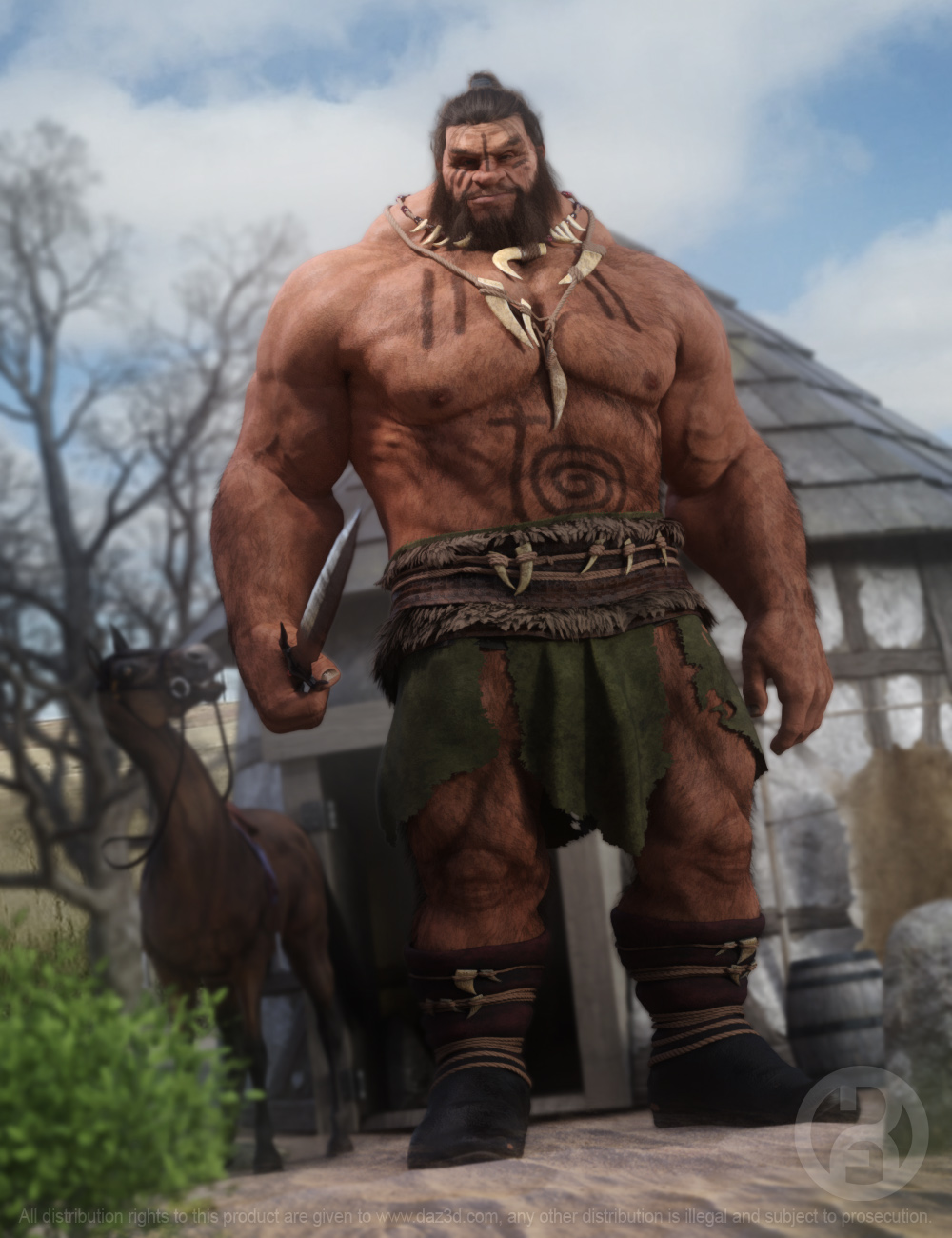 Geirrod the Giant for Genesis 8.1 Male by: RawArt, 3D Models by Daz 3D