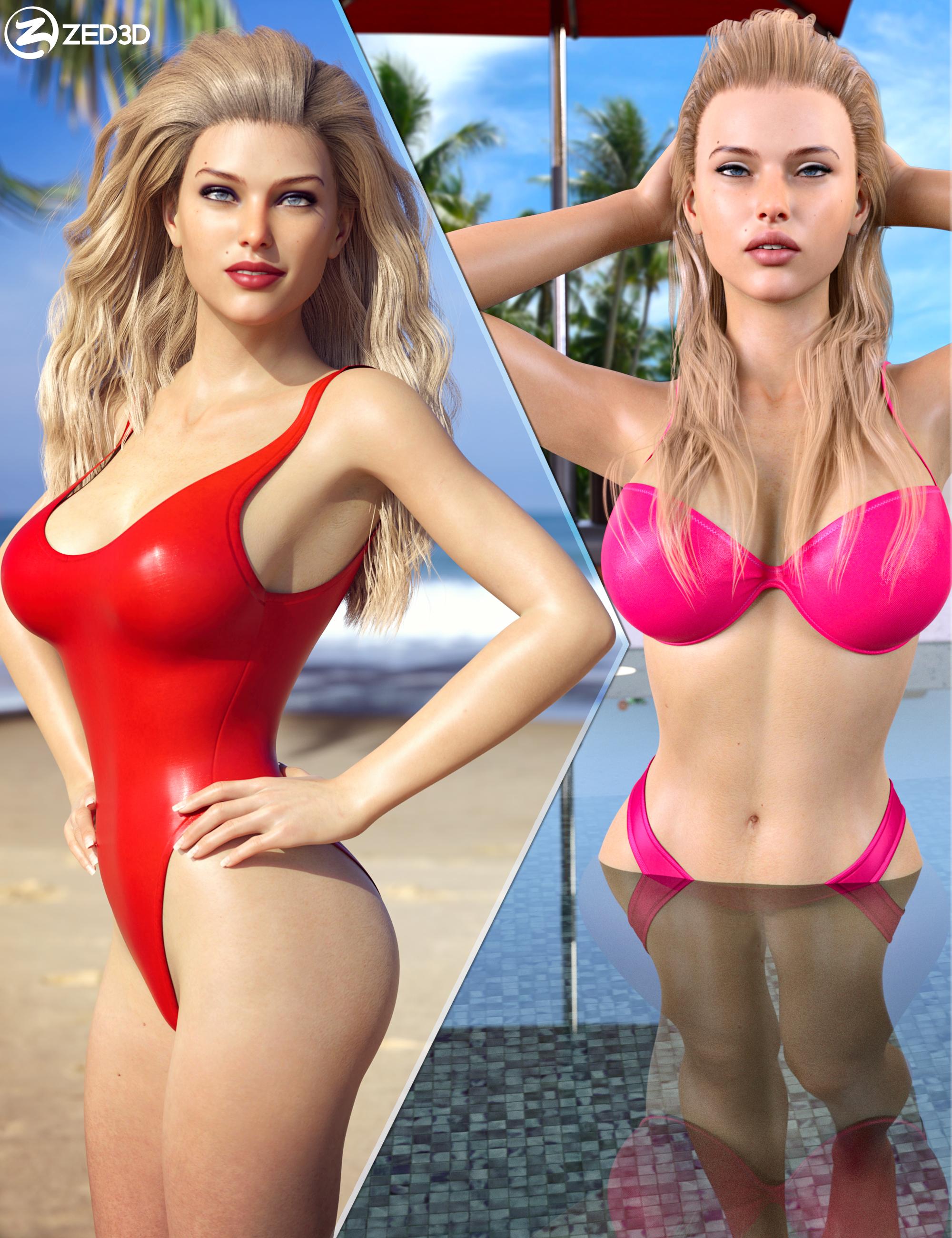 Z Summer Beauty Shape and Pose Mega Set by: Zeddicuss, 3D Models by Daz 3D