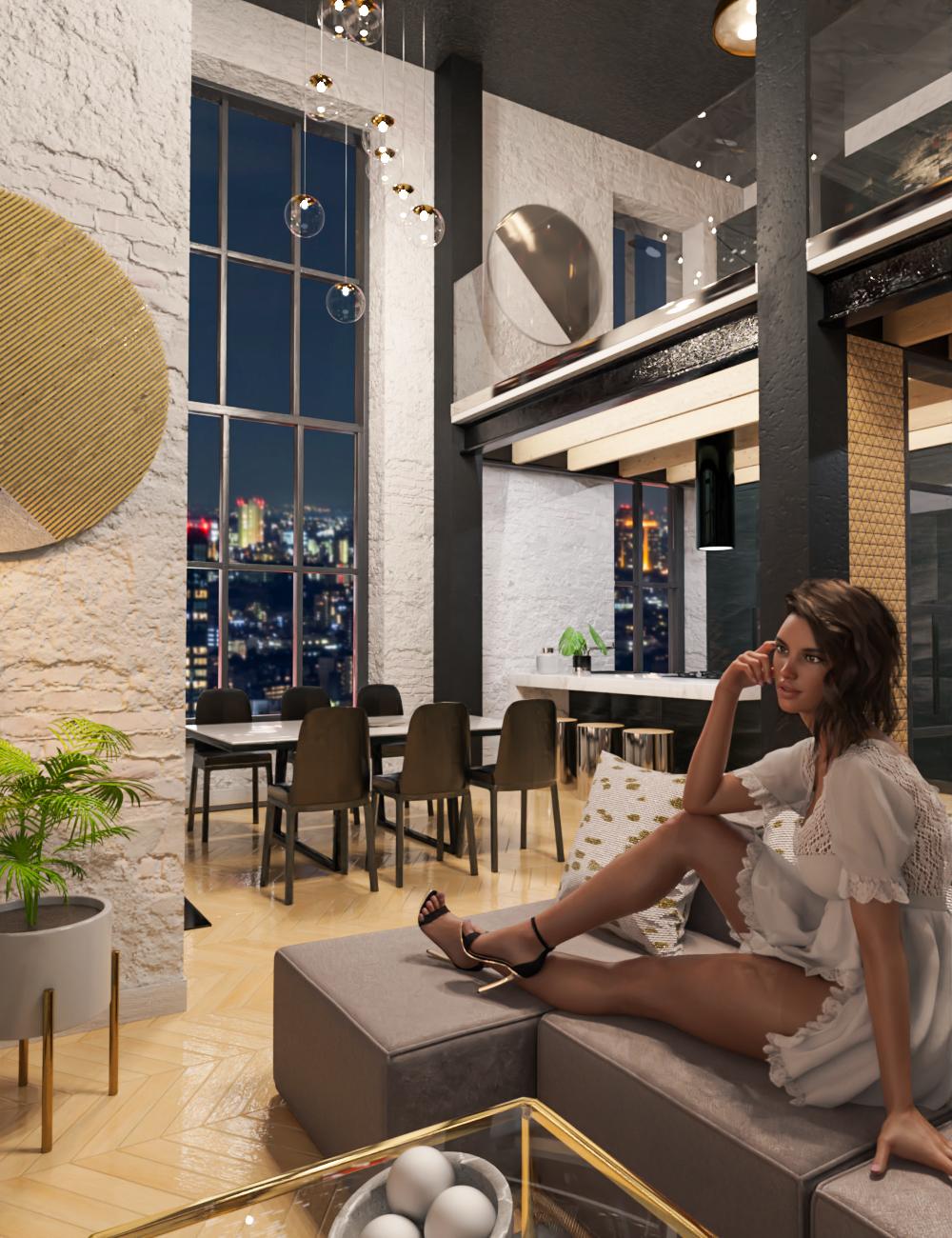 M8 Luxury Loft in Manhattan by: Modu8, 3D Models by Daz 3D