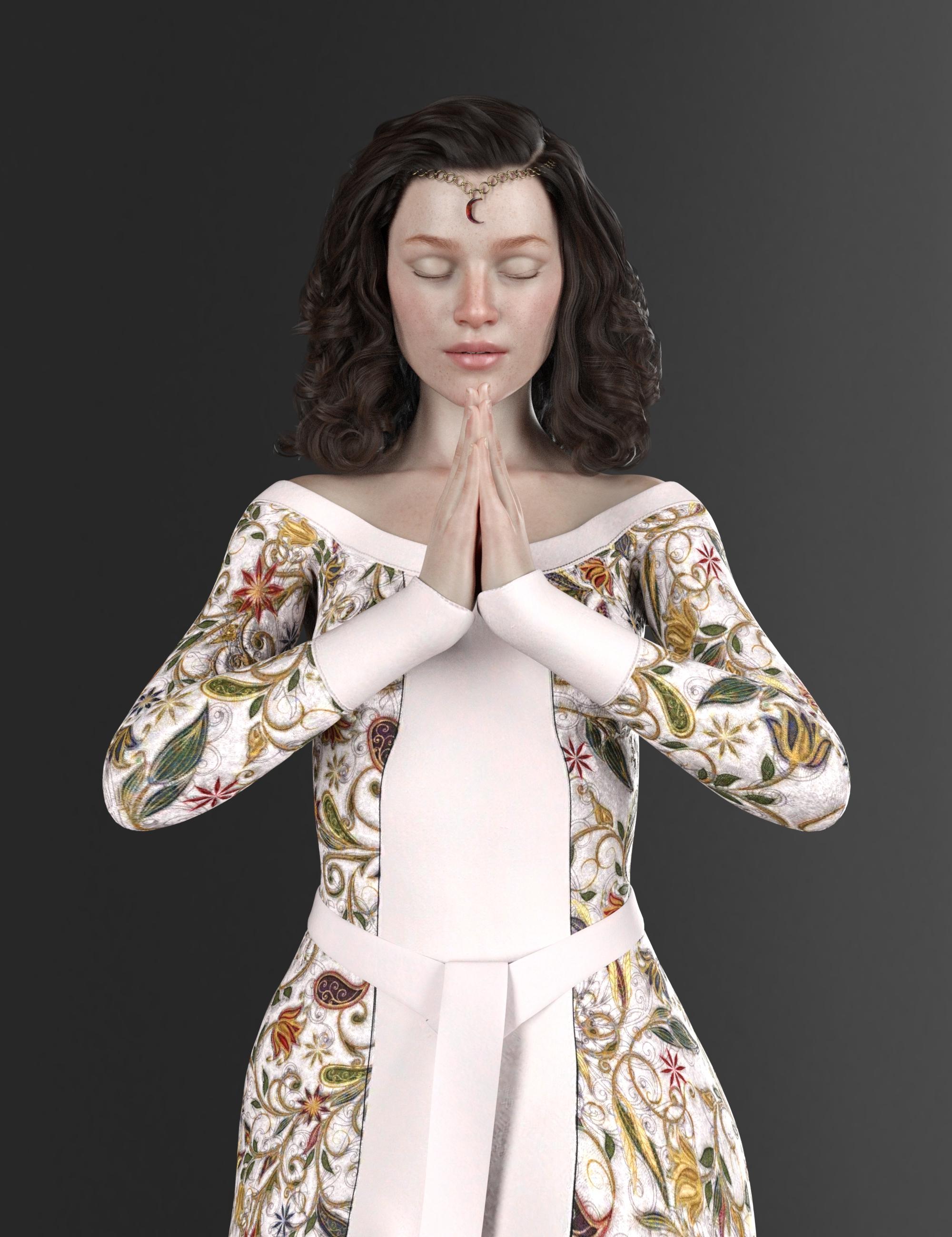 Nobility Textures for dForce Elven Dress by: Sade, 3D Models by Daz 3D