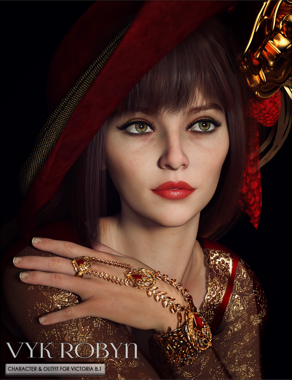 VYK Robyn Character and Outfit for Victoria 8.1 by: vyktohria, 3D Models by Daz 3D