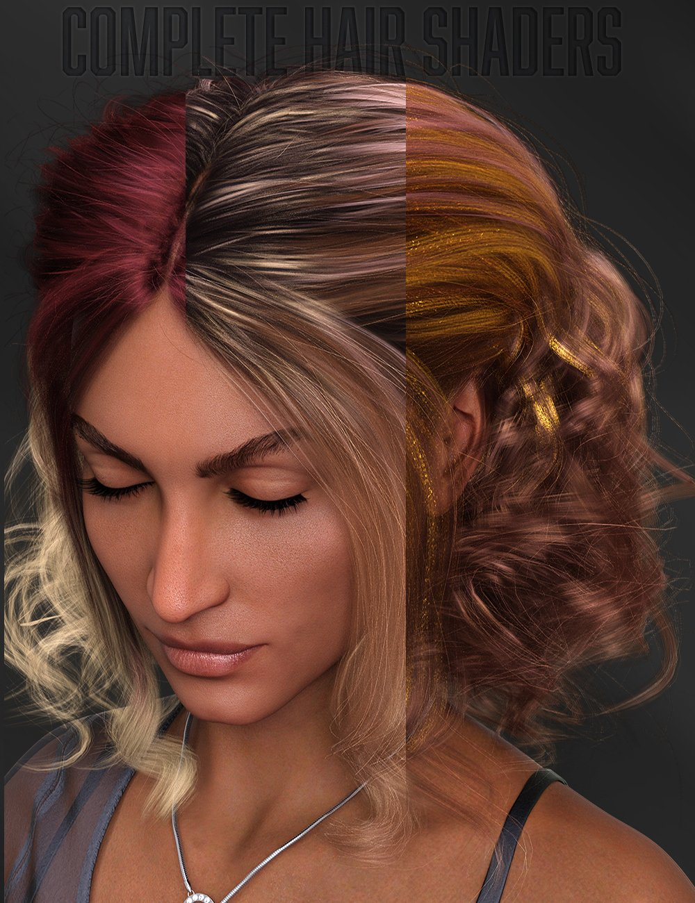 Twizted Complete Iray Hair Shaders by: TwiztedMetal, 3D Models by Daz 3D