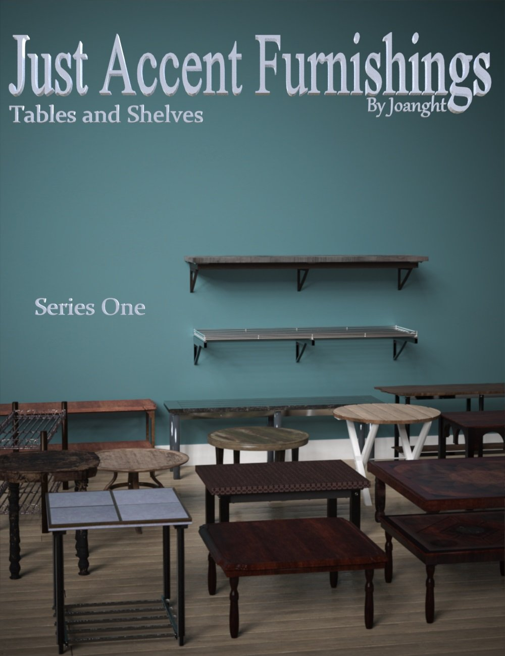 Just Accent Tables and Shelves Series 1 by: Joanght, 3D Models by Daz 3D
