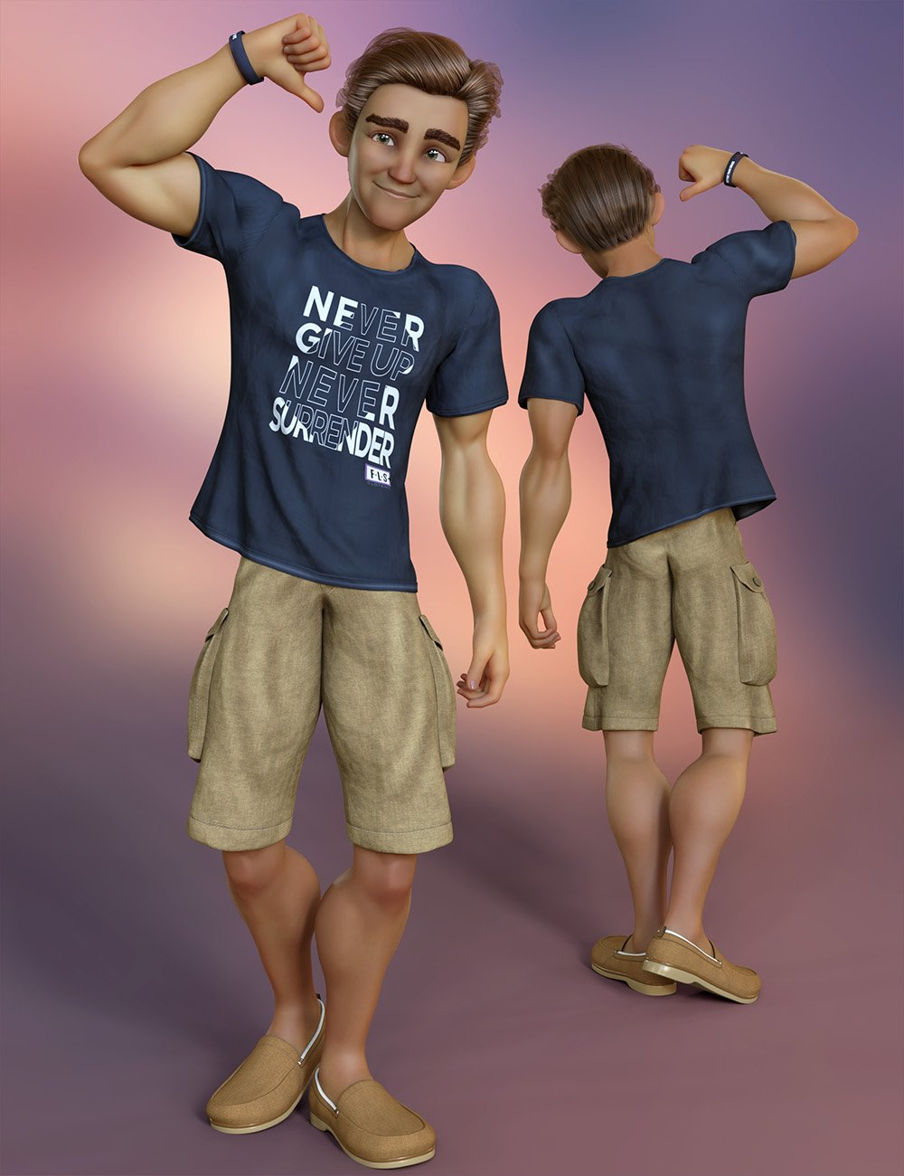 Stylized '21 Clothing for Genesis 8 and 8.1 Male by: 3D Universe, 3D Models by Daz 3D