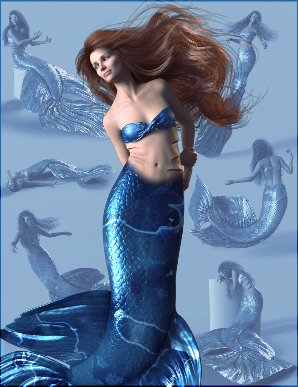 Siren Song Poses for Coral 8.1 and Genesis 8.1 Female by: Quixotry, 3D Models by Daz 3D