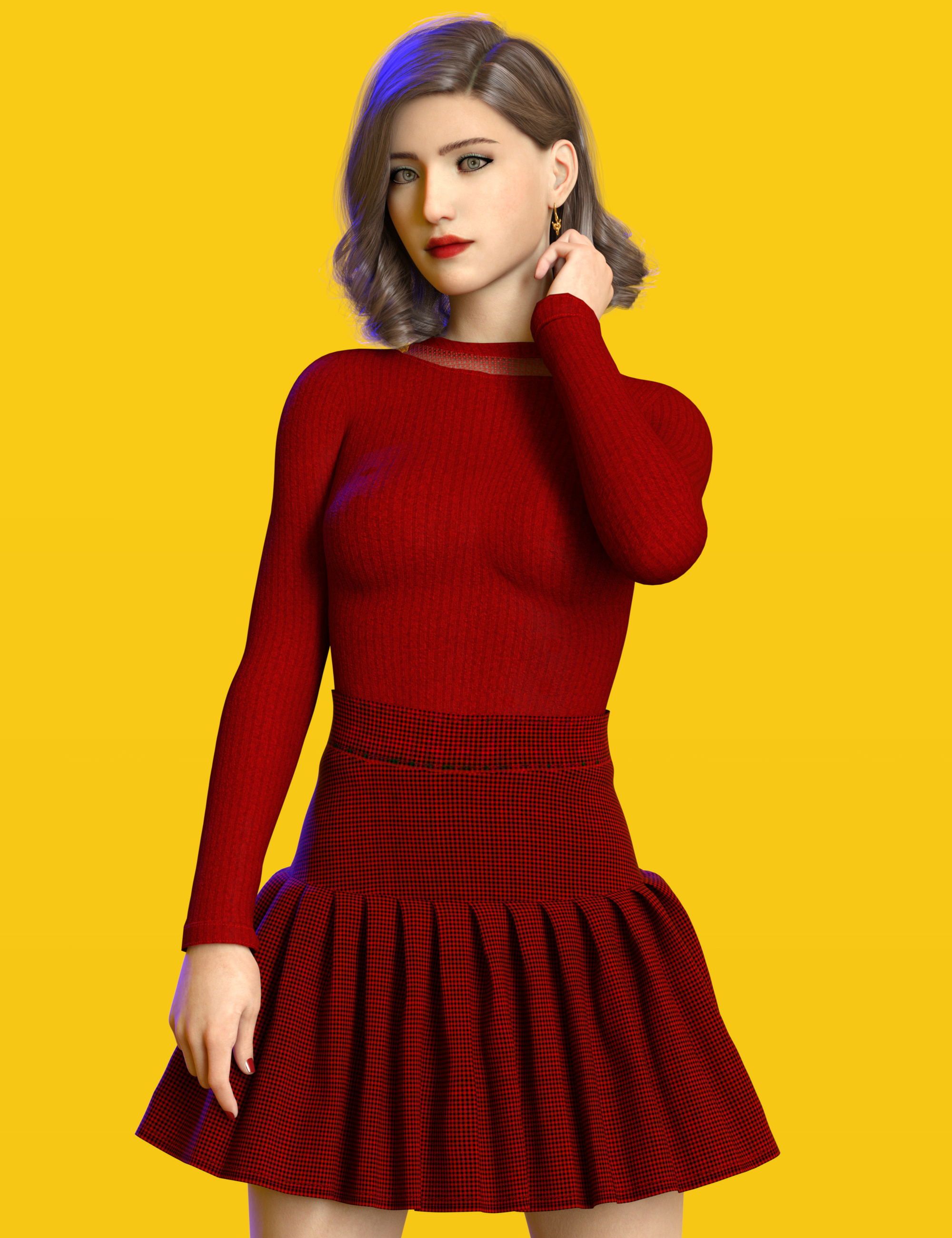 dForce Coco Outfit for Genesis 8 and 8.1 Females by: Nelmi, 3D Models by Daz 3D