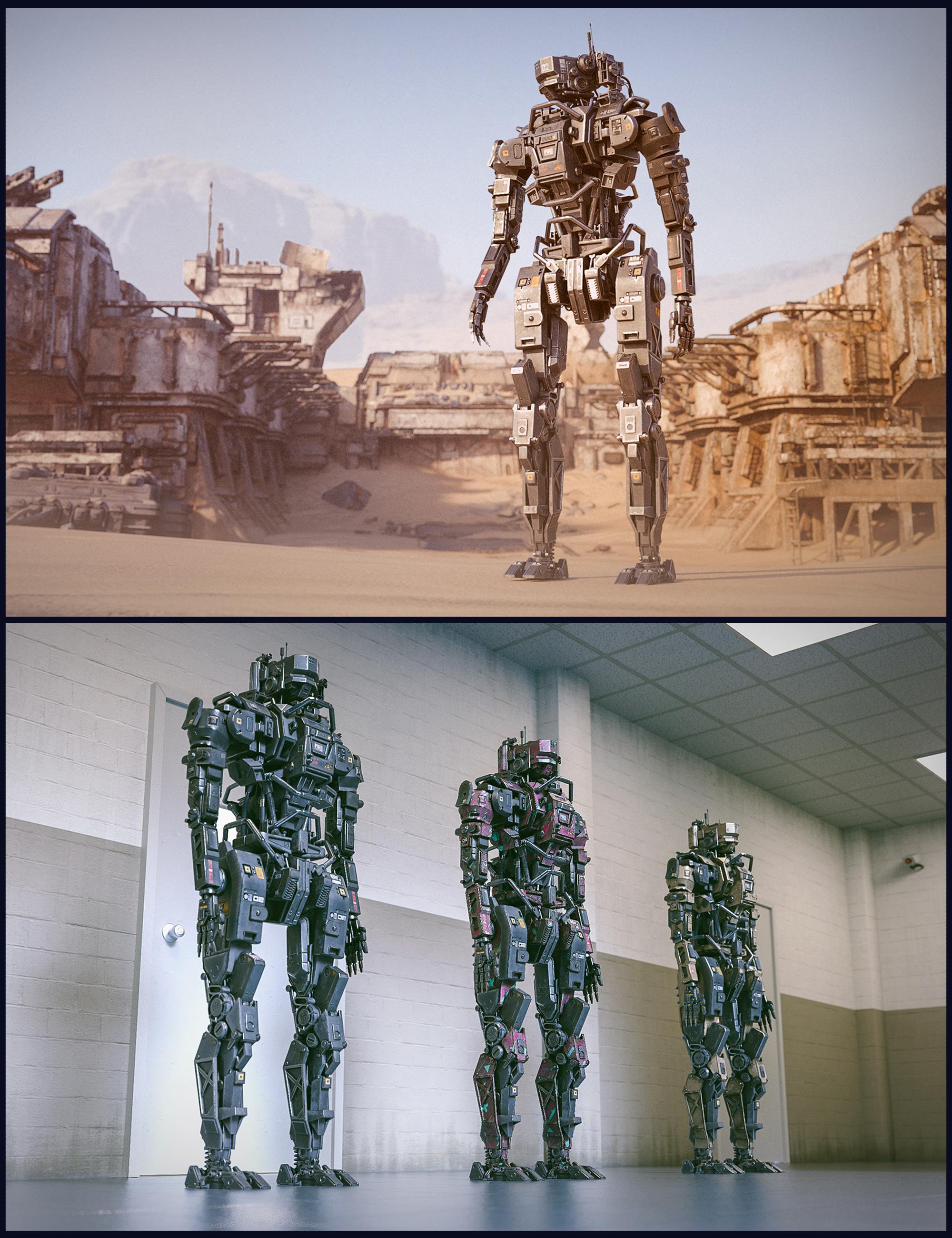 Cyberpunk MEC Droid by: Polish, 3D Models by Daz 3D