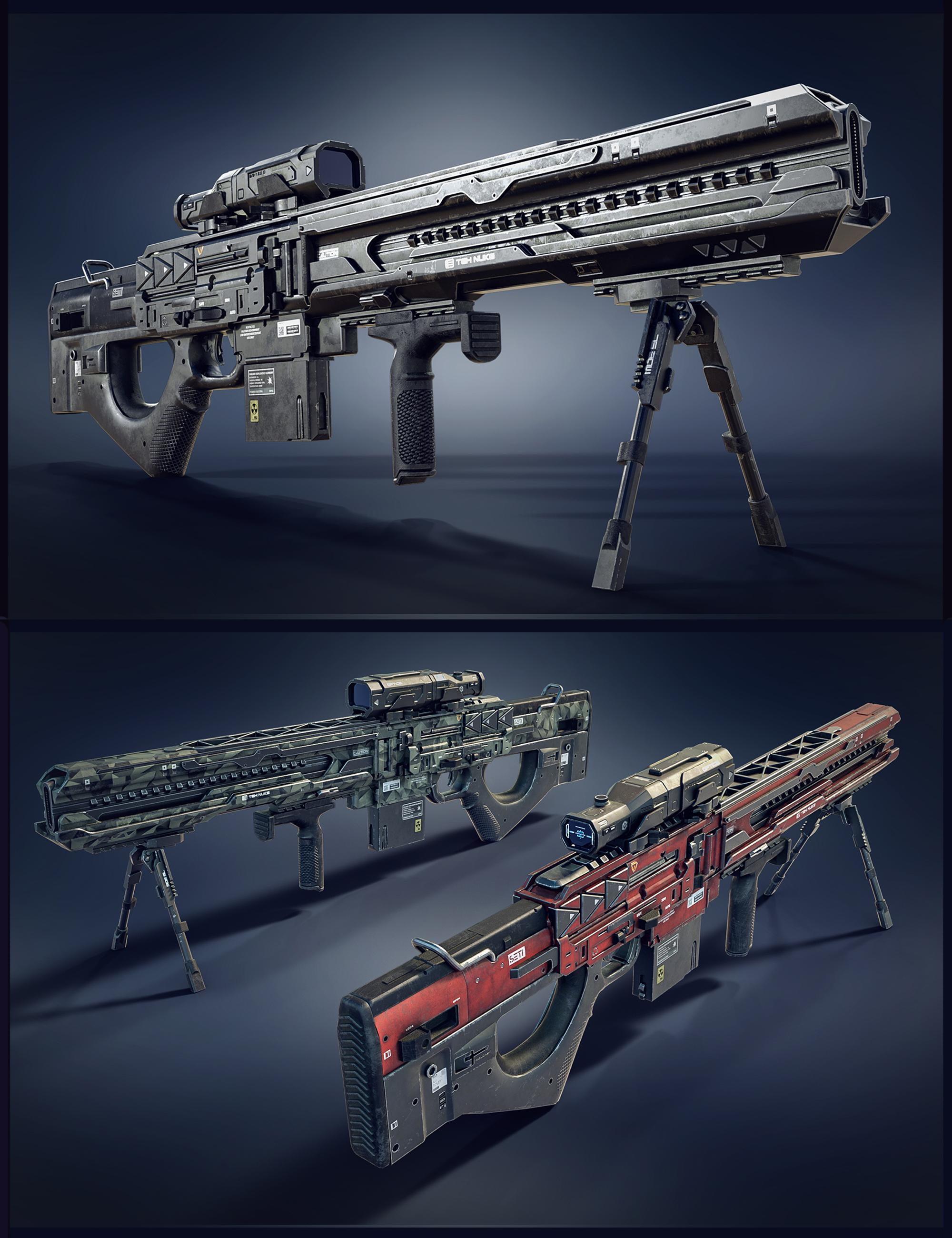 Cyberpunk Droid Sniper Rifle by: Polish, 3D Models by Daz 3D