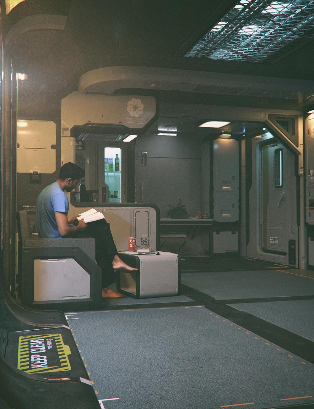 HAB - Sci-Fi Living Quarters by: Stonemason, 3D Models by Daz 3D