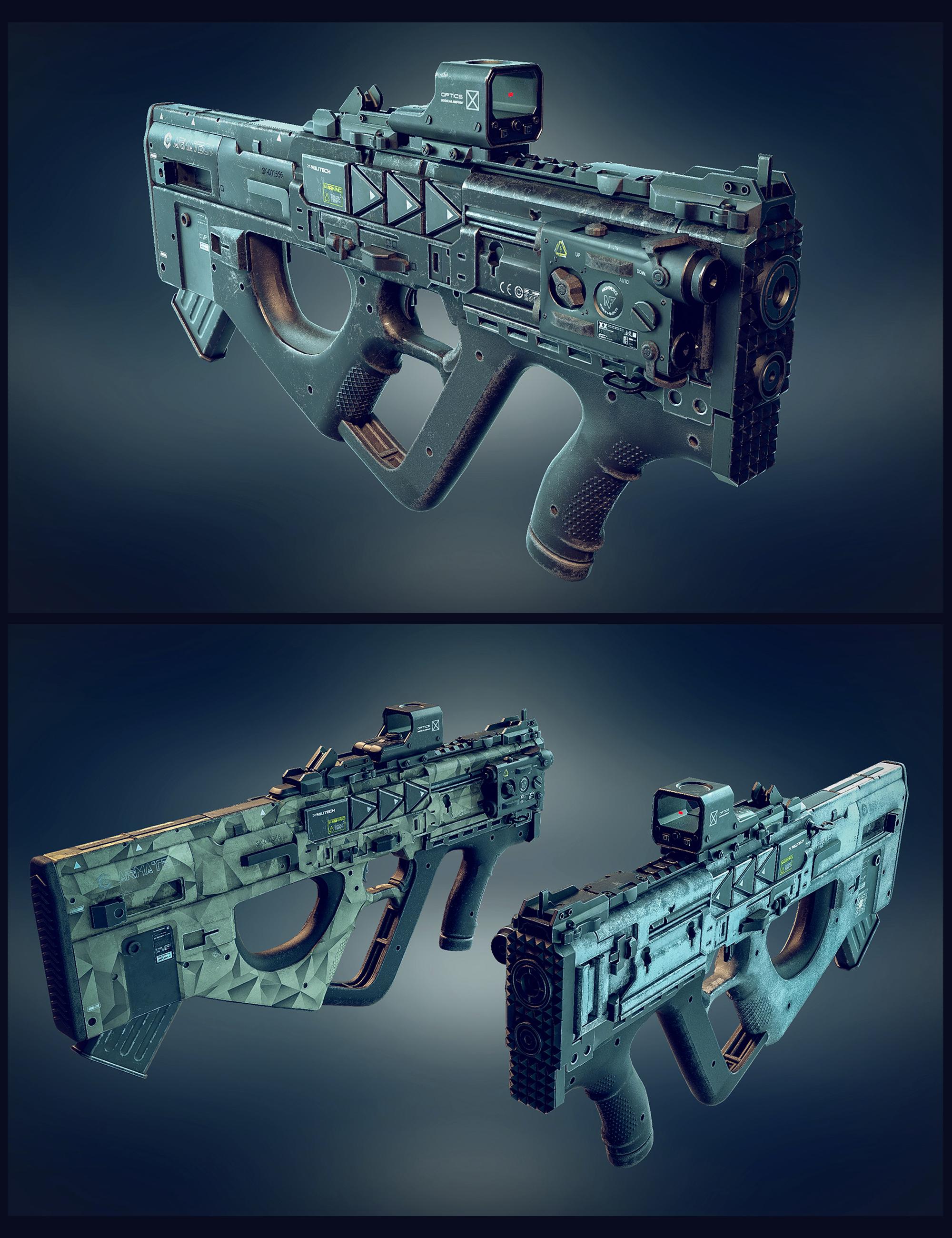 Cyberpunk Droid SMG by: Polish, 3D Models by Daz 3D