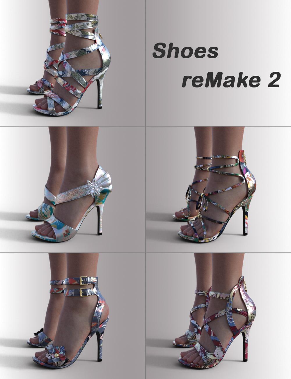 Shoes ReMake 2 for Genesis 8.1 Females by: OnnelArryn, 3D Models by Daz 3D