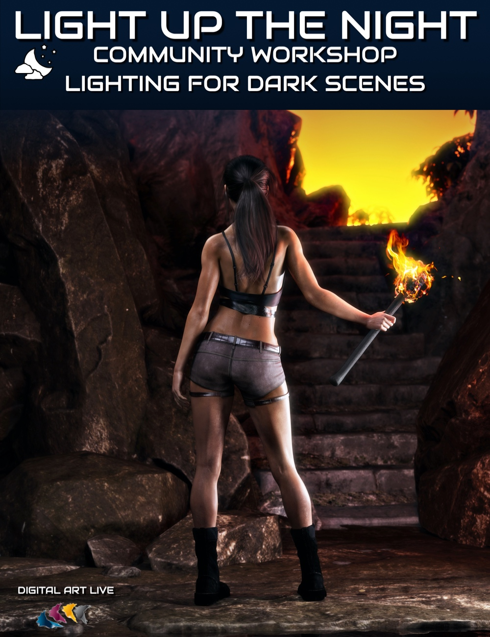 Lighting Up the Night: Special Lighting for Dark Scenes by: Digital Art Live, 3D Models by Daz 3D